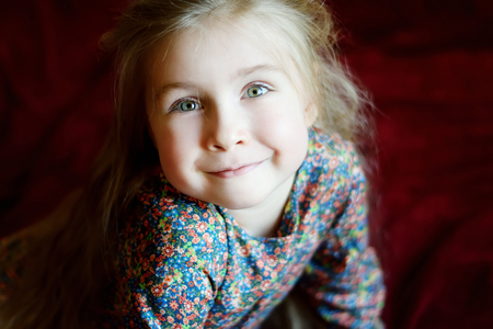 Portrait of a little smiling girl
