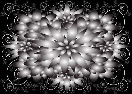 flowered: A flowered black and white pattern