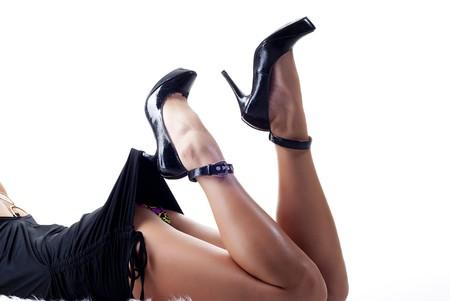 sexy female legs Stock Photo