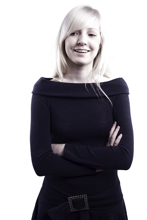beautiful smiling blonde lady