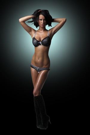 tetas: Sexy lady hermosa en lencer�a