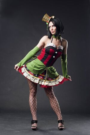 Sexy lady hermosa vestido suerte