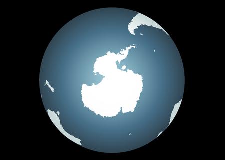 antartide: Antartide (Vector). Mappa accurata di Antartide. Comprende i suggerimenti del sud America del Sud, Australia e Africa