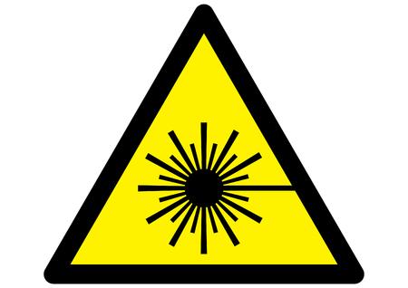 sehkraft: Symbol f�r Laser-Warnschild auf gelben Dreieck.  Illustration