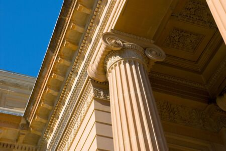 neo classical architectural detail of ionic column on classic greek temple style facade of art gallery of nsw Stock Photo - 1932354