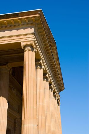 Greek Classical style facade of Art gallery - Ionic. Stock Photo - 1932348
