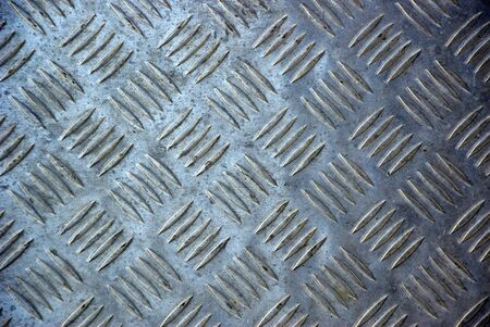 stamped metal sheet material used for flooring