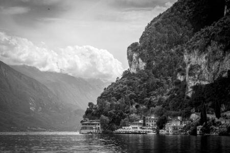 landscape of Lake Garda from riva del Garda