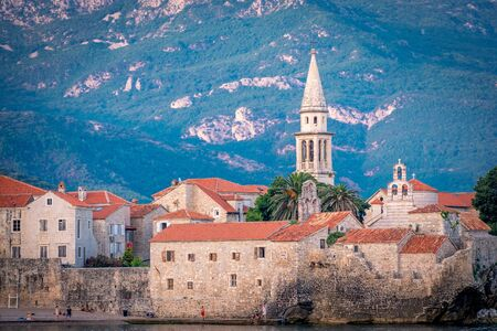 view of the fortress in the Old Town in Budva, Montenegro