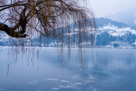 ice lake Zell am See, Austria.