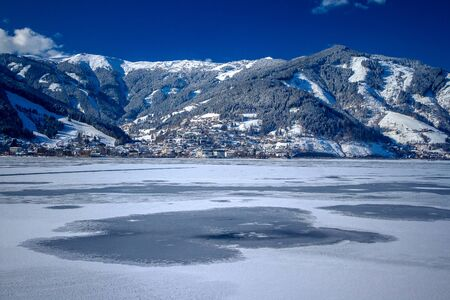 Zell am See, Austria. Winter view from Thumersbach