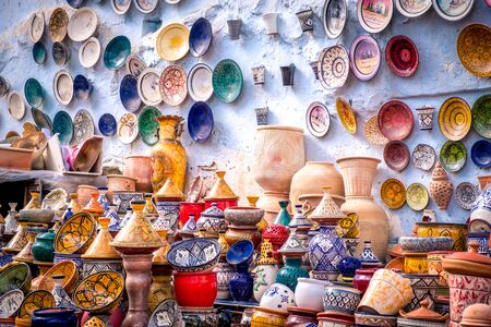 Plates, tajines and pots. Moroccan cookware on the market