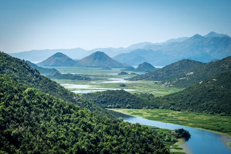 Montenegro, Crnojevica river of skadar valley into scutari lake national park