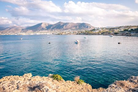 Beautiful sea in Hersonissos on Crete. Greece