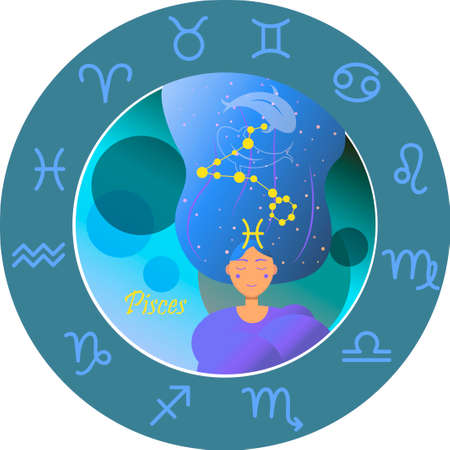 Vector illustration of the zodiac sign by horoscope. Ilustrace