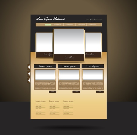 page layout: Classy-look restaurant website design