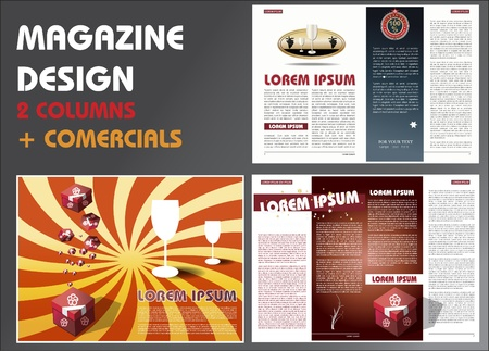 MAGAZINE LAYOUT DESIGN TEMPLATE Ilustrace