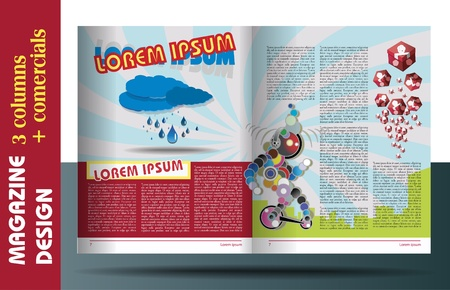 MAGAZINE LAYOUT FOR KIDS DESIGN TEMPLATE  Ilustrace