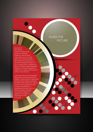 Abstract page design layout Vector