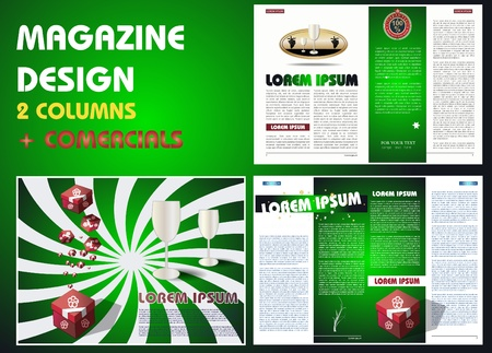 Magazine layout designs template Vector