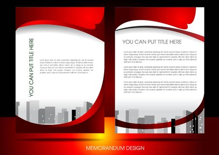 Memorandum design layout Vector