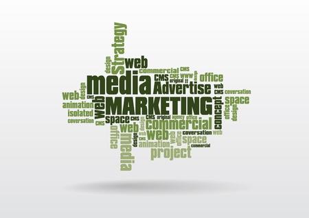 social media marketing: El social media marketing Vectores
