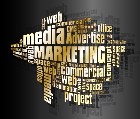 Marketing words Vector
