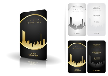 business card layout: Black and white business cards