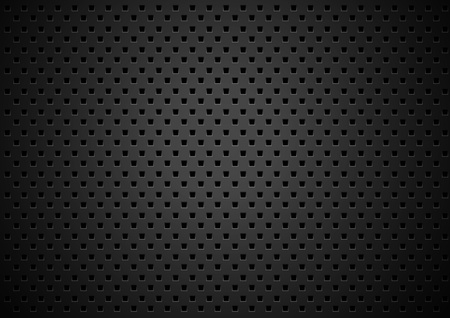 shiny black: Metal texture background with square holes