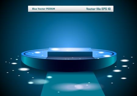 primer lugar: Podio vector azul
