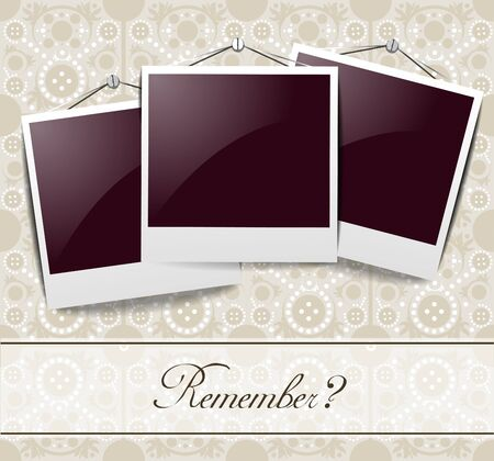 Elegant vintage photo frames Vector