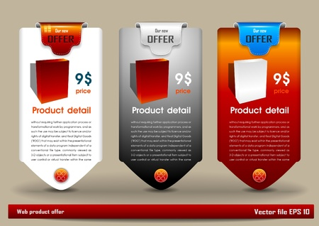 Web product offer Vector