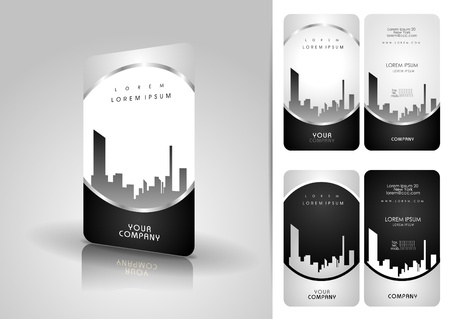 calling card: Silver business card set