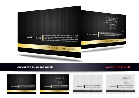 business card layout: Corporate business cards