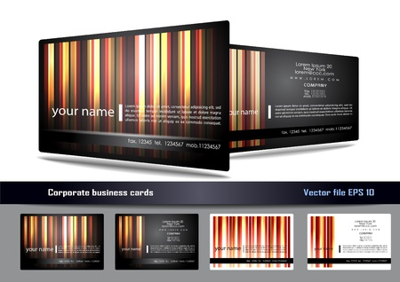 business card background: Creative business card set Illustration