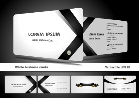 business card template: White business cards