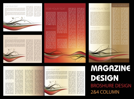 magazine template: Magazine layout design