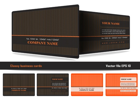 Classy business cards Vector