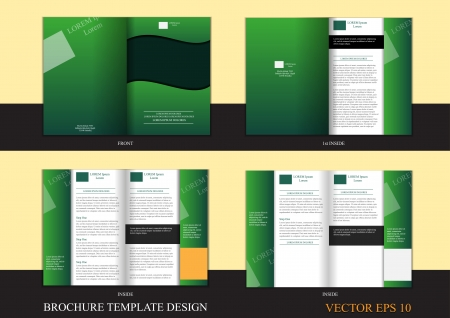 wooden insert: Brochure template design for graphic design, printing purposes  Illustration