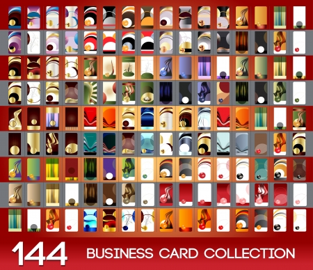 Vertical business cards collection Illustration
