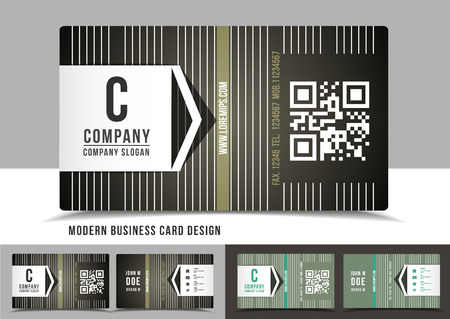 Modern business card design Illustration