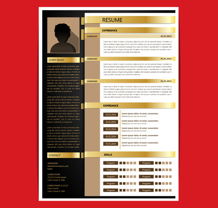 curriculum: Resume template Illustration