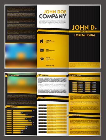 paper fold: Three fold brochure design