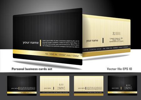 бизнес: Личные визитные карточки набор Иллюстрация