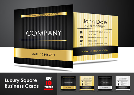 Luxury square business cards