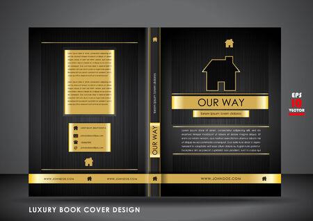Luxury book cover design Illustration
