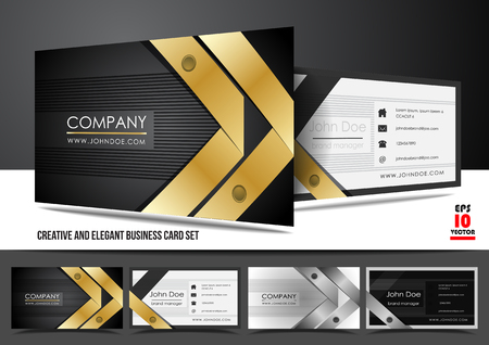 Creative and elegant business card set Vector
