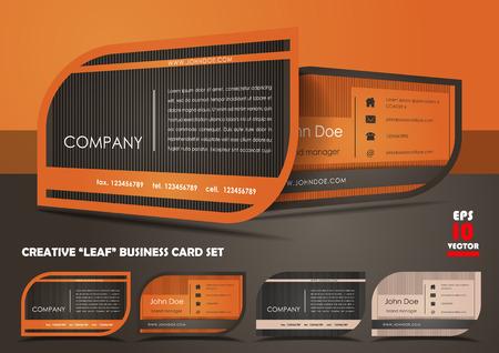 Creative leaf business card set