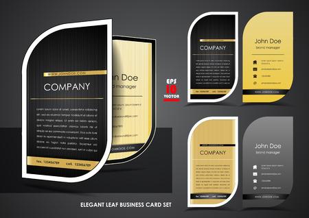 Elegant leaf business card set