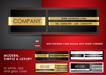 Modern, simple & luxury mini business card Illustration